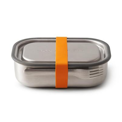 Black and Blum Stainless Steel Lunch Box Orange