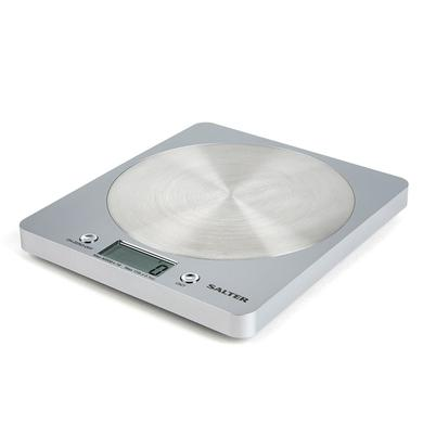 Salter Disc Electronic Digital Kitchen Scale Silver