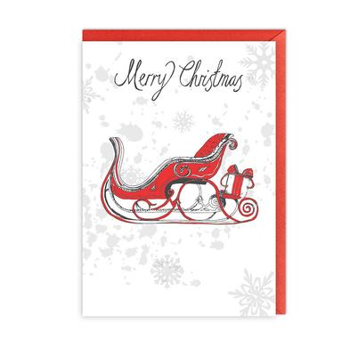 Victoria Eggs Christmas Sleigh Greeting Card