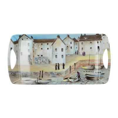 Creative Tops Melamine Small Handled Tray, Cornish Harbour