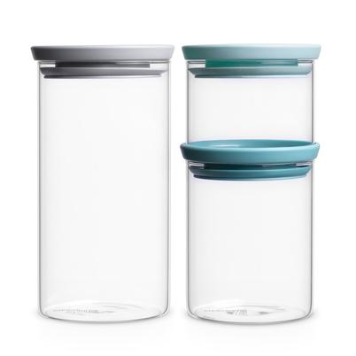 Brabantia Stackable Jars Set of 3