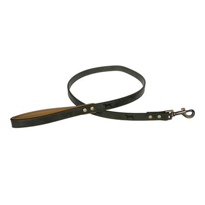 Sophie Allport Stamped Dog Lead Forest Green Small
