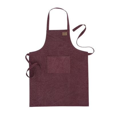 Samuel Lamont Cotton Stone-Washed Denim Apron Bordeaux