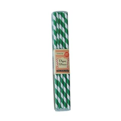 Eddingtons Paper Straws Green Stripes