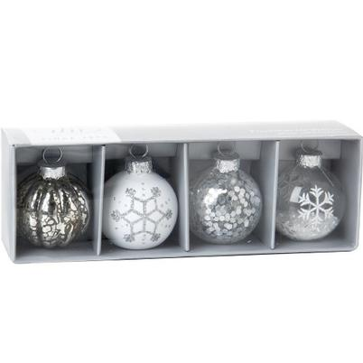 IHR Place Card Holder Set of 4 Silver Baubles
