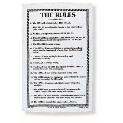 Ulster Weavers The Rules Tea Towel
