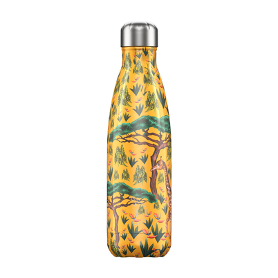 Chilly's 500ml Stainless Steel Water Bottle Tropical - Giraffe