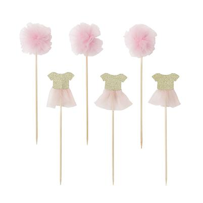 Talking Tables We Heart Pink 12 Tulle & Pom Pom Toppers