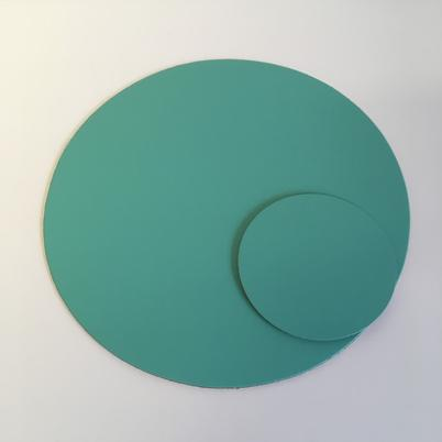 UnderCover Recycled Leather Coaster Aqua
