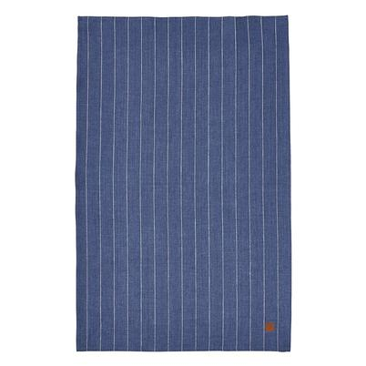 Ulster Weavers 1880 Linen Tea Towel Navy Pinstripe