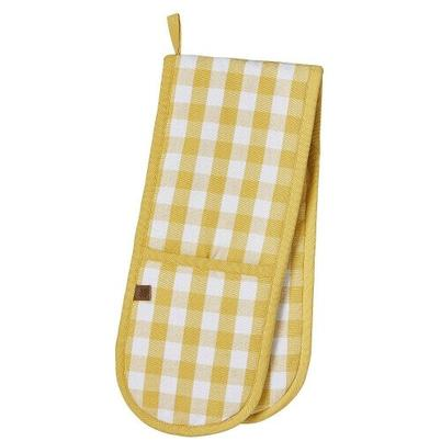 Ulster Weavers Double Oven Gloves Gingham Yellow