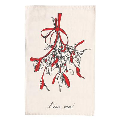 Victoria Eggs Mistletoe Tea Towel