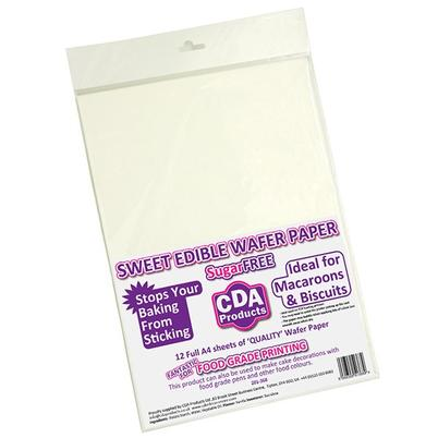CDA Sweet Edible Wafer Paper A4 White 12pc
