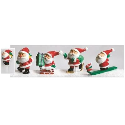 Cake Topper Plastic Santa Is Here 60mm