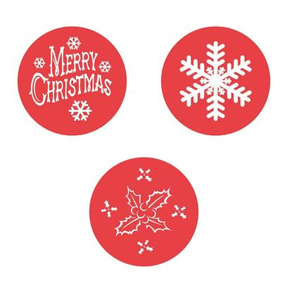 Eddingtons Set of 3 Christmas Cake Stencils