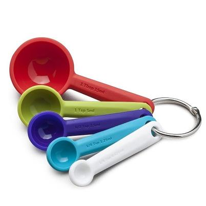 Zeal Silicone Measuring Spoons Set Multicolour