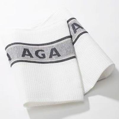 AGA Linen Tea Towel Black