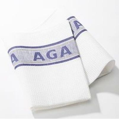 AGA Linen Tea Towel Blue