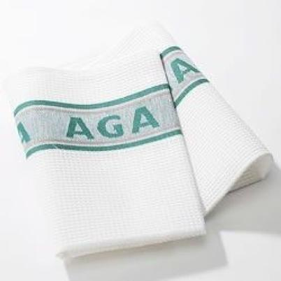 AGA Linen Tea Towel Green