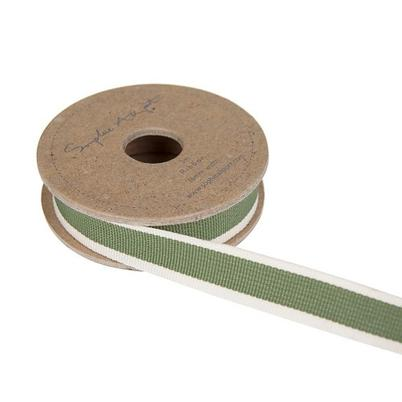 Sophie Allport Ribbon Leaf Green Stripe
