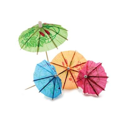 CellarDine Mixed Colours Cocktail Umbrellas 50pcs